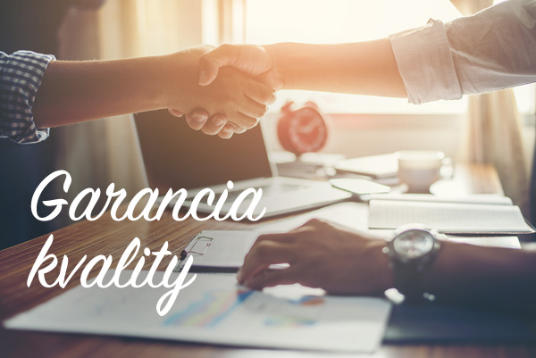 garancia kvality - referencie